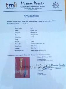 sertifikasi museum pusaka tmii kidang mas hb v
