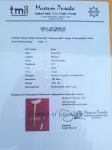 sertifikasi pusaka tmii panji nom